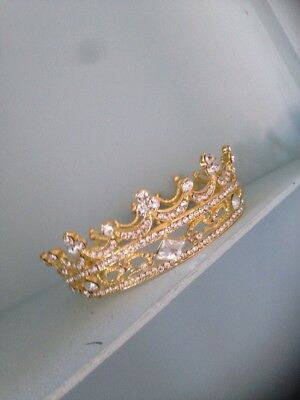 Baby Crown Boy. Small Sized Crown .4cms Tall . Girl Baby Crown Gold