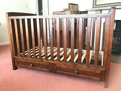 Cot Bed and Changing Table (Silver Cross)