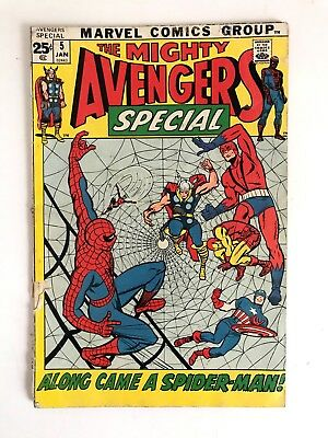 THE MIGHTY AVENGERS Special #5 Annual ~ Iron Man Thor Wasp Spider-Man 1972
