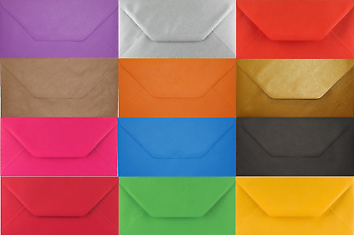 DL Coloured Envelopes 110x220mm for Greeting Cards Party Invitations Crafts