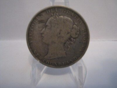One NEWFOUNDLAND  Fifty cents 1900 - SILVER