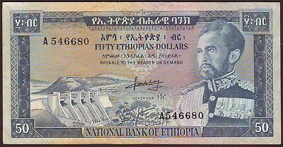 ETHIOPIA  50 Dollars  ND (1966)
