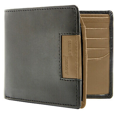 New Vegan Faux Leather Bifold Wallet For Men With FlipUp Id Window RFID Blocking