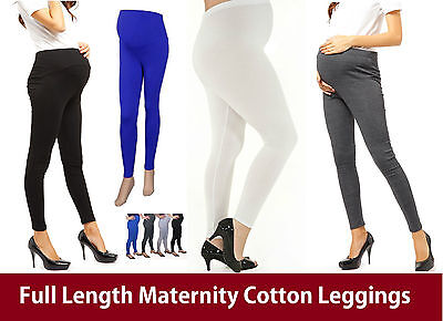 Women Ladies Full Length Maternity Pregnancy leggings Over the Bump NEW mtrLg