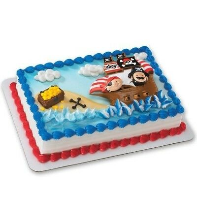 Little Pirates DecoSet Cake Decoration by DecoPac. Free Shipping