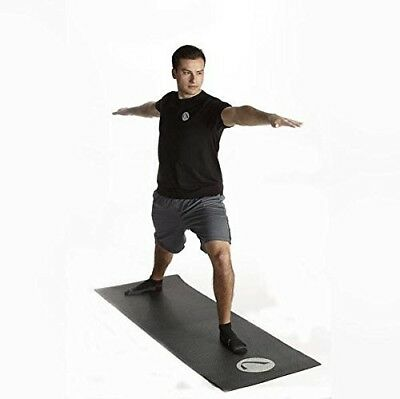 SilverClean Fitness Mat (black) by SilverSport, Premium Quality Anti-Microbial