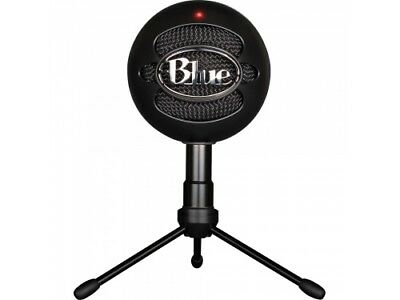BLUE SNOWBALL ICE BLACK USB Gaming Pc Microphone 836213001929 [F96]