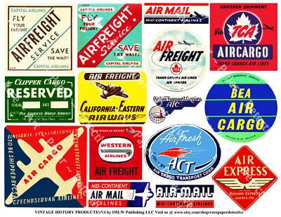airplane luggage labels 2 sticker sheets baggage labels retro
