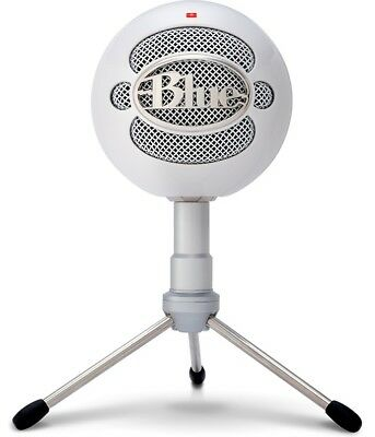 BLUE SNOWBALL ICE WHITE USB Microphone with Mic Stand 836213001974 [F96]
