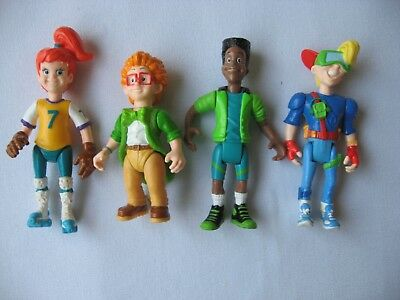 Vintage COMPLETE SET BURGER KING KIDS CLUB ACTION FIGURES Kid Vid IQ Jaws Boomer