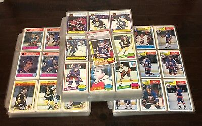 Lot of 3 OPC Hockey Sets 1980-1982-1983/Borque, Messier RC's, Gretzky