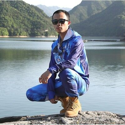 Summer Outdoor UV Protection Men Fishing Clothing Hiking Hoodie Shirt Pants Suit