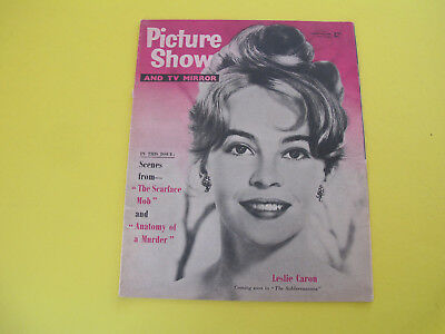 Leslie Caron on Front Cover 1959 Picture Show & TV Mirror Magazine
