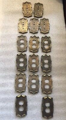 Amerock Electrical Outlet Light Switch Metal Wall Plates  Vintage? Lot Of 16