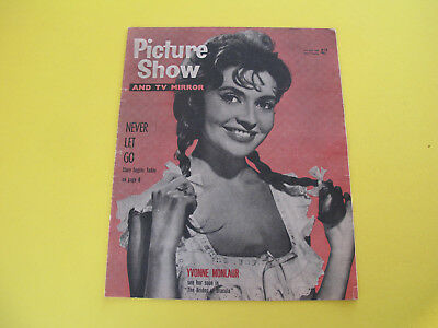 Yvonne Monlaur on Front Cover 1960 Picture Show Magazine