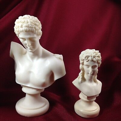 Vintage Greek Statues Hermes and Eros set of 2 from Greece