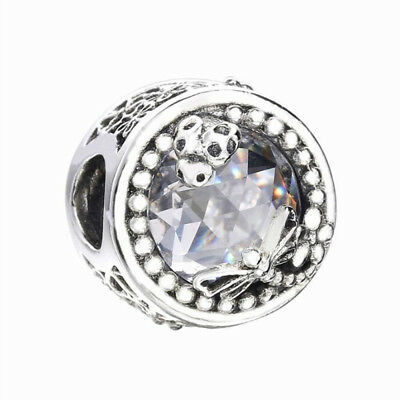 Authentic Sterling Silver Enchanted Nature CZ Bead Charm NEW SPRING 2018