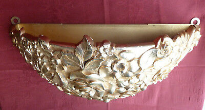 Vintage Regency SYROCO Ornate Floral Gold Wall Planter 4440 USA