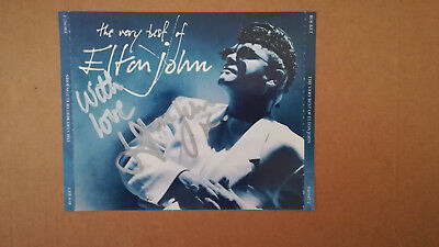 CD front cover hand signed in person by Sir Elton John, with COA