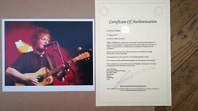 Photo hand signed in person by Ed Sheeran, Dez 2016 - with COA