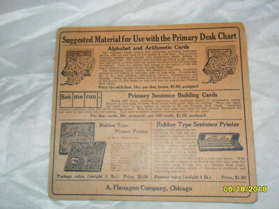 "Antique A. Flanigan Company ""The Primary Desk Chart"""