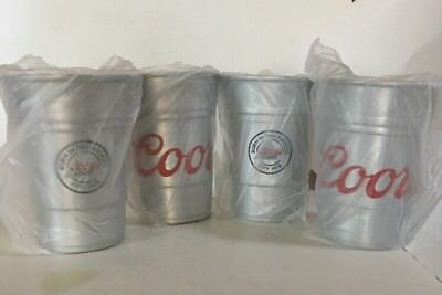 Coors Light Aluminum Cup Set of 4 Brand New