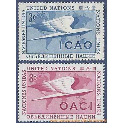 Timbre collection ONU New-York N° Yvert et Tellier 31/32 Neuf sans charnière