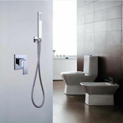 Brass Chrome Wall Mounted Hot&Cold Mixing Shower Valve &Hand Shower Sprayer Set