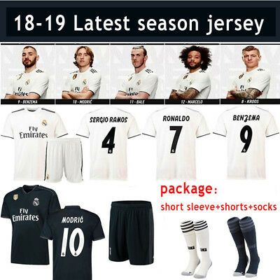 2018-2019 Football Kits Soccer Suits Jersey Shirts For Kids Adults SML 3-14YRS
