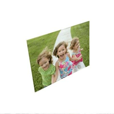 """Personalised Photo Added 5"""" x 7"""" Landscape Toughened Glass Panel With Peg Stand"""