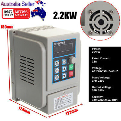 2.2KW 3HP 220V Single To 380V 3 Phase Variable Frequency Drive Converter 12A