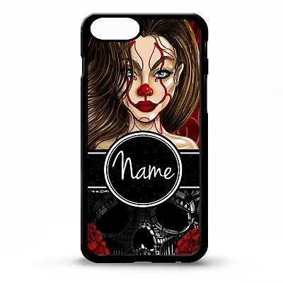 e87355bba7ba8 Clown girl circus jester skull tattoo art personalised name phone case cover