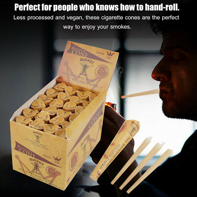 72pcs 110mm Cones Natural Tobacco Cigarette Smoking Rolling Papers Smoker Gift