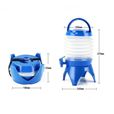5L Outdoor Folding Bucket Beer Barrel Camping Hiking Drinks Container with Tap