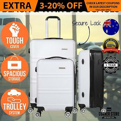 Hard Shell Suitcase Set 3p Luggage Suit Case Trolley Travel TSA Lock Dual Wheel