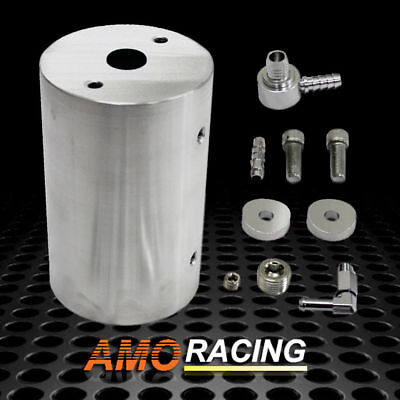 Vacuum Canister Reservoir Brake Booster Can w/ Check Valve & Hardware Kit