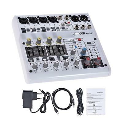 8-Kanal-Soundkarte Digitaler Audio-Mixer Mischpult Eingebauter 48V Powered D4M5