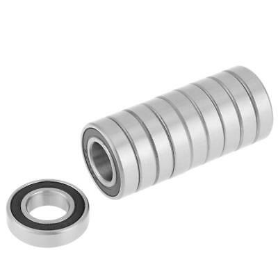 10Pcs 6901-2RS Rubber Sealed Deep Groove Ball Bearing 12x24x6mm