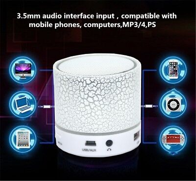 Portable Mini LED Bluetooth Speakers Wireless Bass Speaker for MP3 iPhone PC lot