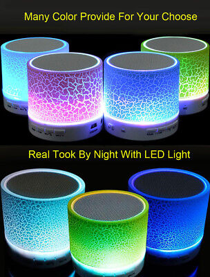 Portable Mini LED Wireless Bluetooth Bass Stereo Speaker for iPhone Samsung lot
