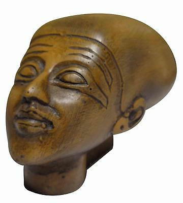 "Egyptian Mask of Ancient Pharaoh King Akhenaton Pharaoh Statue 2.8"" Sculpture"