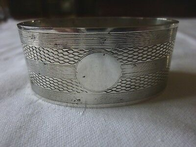 Solid Silver Heavy 1923 Napkin Ring No Reserve