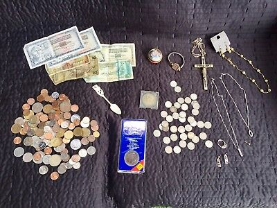 Job lot of vintage & modern jewellery ,925 sterling silver & Silver coins