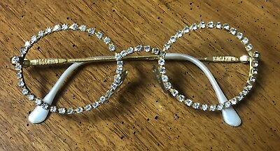 Moschino by Persol Golden and Rhinestones Glasses