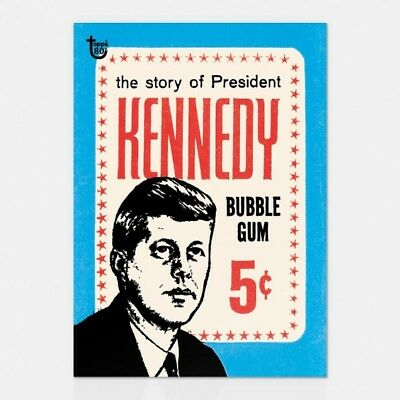 2018 Topps 80Th Anniversary Wrapper Art Card #55 - 1964 John F. Kennedy