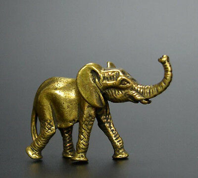 China Old Collectibles brass elephant mini statue
