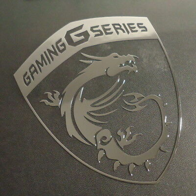 MSI Gaming Series Label / Badge / Sticker / Logo 75 x 93mm [441b]