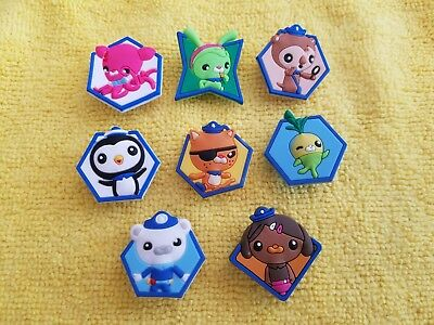 OCTONAUTS shoe charms/cake toppers!! Set of 8!! FAST FREE USA SHIPPING!