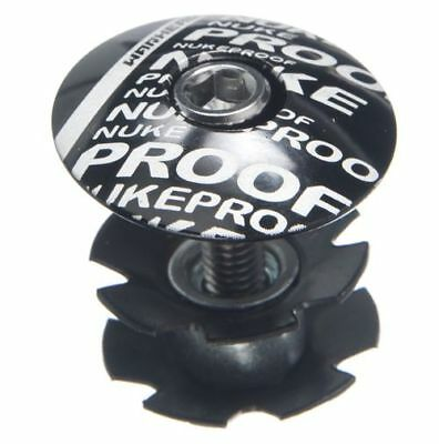 """Nukeproof Fork Top Cap and Star Nut 1.5"""" Black"""