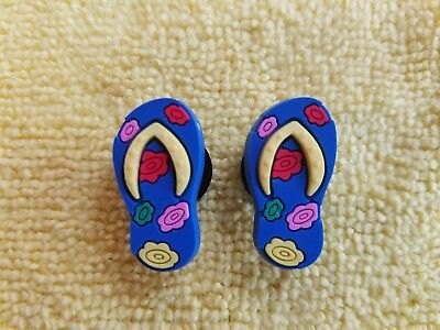 FLIP-FLOPS shoe charms/cake toppers!! Adorable Pair!! FAST FREE USA SHIPPING!